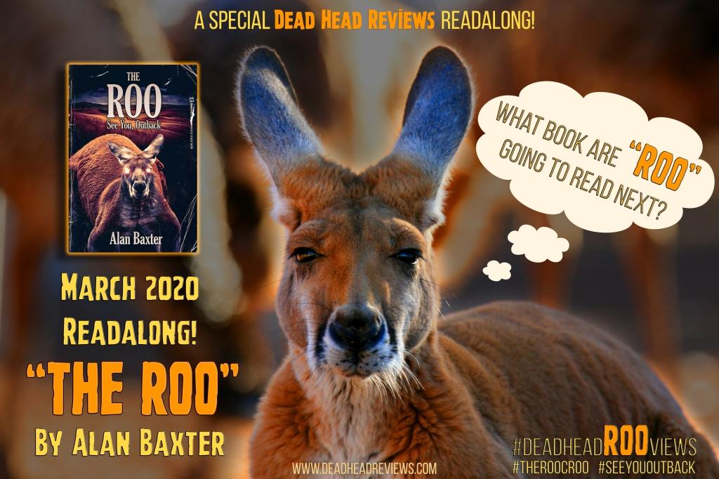 Promotional image for DeadHeadROOViews week for alan baxter australian week promo